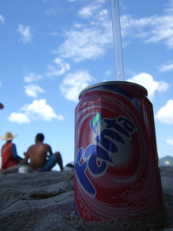 Fanta on the beach